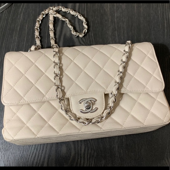 6d382b772805 CHANEL Bags   Cream Classic Small Flap Bag   Poshmark